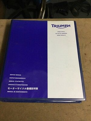 Triumph Speed Triple 1050 & Speed Triple 1050R Genuine Service Manual 08-12