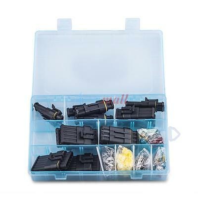 1-6pin Waterproof Electrical Wire Connector Terminal Set w/ Blade Fuses