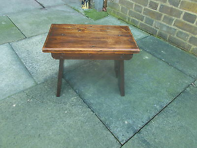 Lovely Old Oak Milking Stool Solid Heavy & Strong