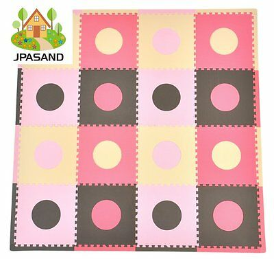 Kids Baby Foam Floor Puzzle Play Mat Gym Toy Pink Soft Quality Activity Playmat