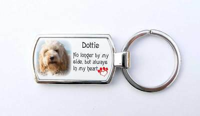 Memorial pet dog photo key ring. Remember me key fob, boxed gift