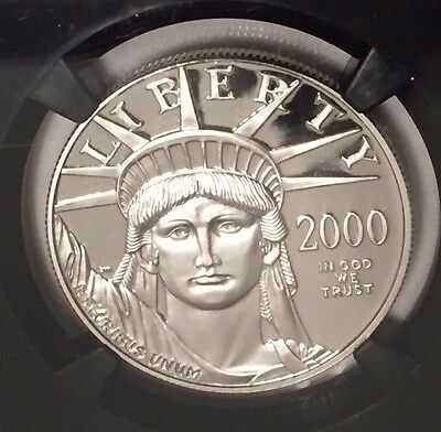 2000-W $100 Platinum Eagle 1oz NGC PR70UCAM : Beautiful Ultra Cameo