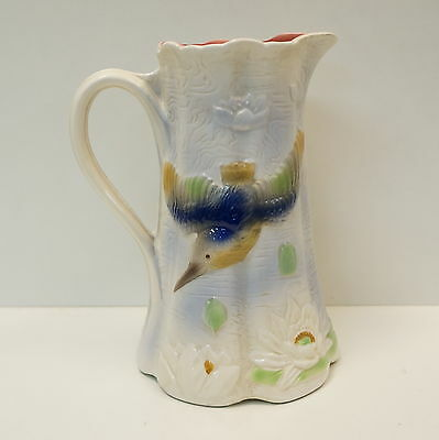 Pitcher Pitcher Bird French Style Porcelain Barbotine Ceramic
