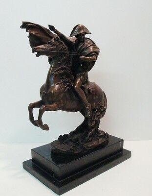 Statue Sculpture Horse Napoleon French Style Bronze Signed