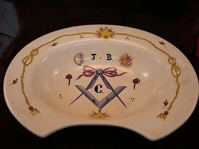 Shaving dish Freemason French Style Porcelain Enamels Ceramic