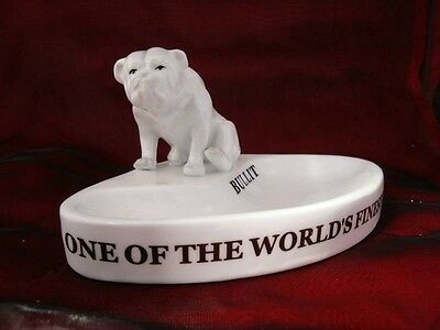 Bowl Figurine Ashtray Dog Bulldog Advertising Bar Matches English Style Porcelai