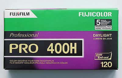 Fujicolor Pro 400H 120 Colour Negative Roll Film, 5 Roll Pack Dated 11/2018