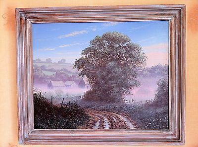 Genuine Original Oil Painting English Landscape/countryside By Edward Hersey