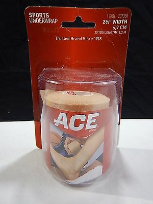 Ace Sports Underwrap 1 Roll 20 Yards Length NEW  Wrap 2 3/4 width 6.9 cm NEW RC
