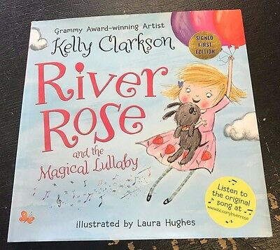 Kelly Clarkson River Rose And The Magical Lullaby Autographed Book Jsa Coa