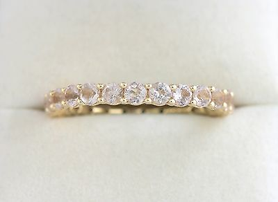 Ladies 14K YG Eternity Band Wedding Anniversary Ring 2.4 CT Cubic Zirconia Sz 10
