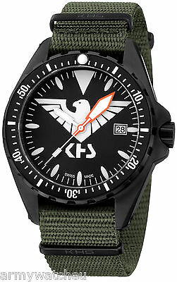 KHS Tactical Watch Missiontimer Eagle One C1-Lighting Army Band Oliv KHS.MTE.NO