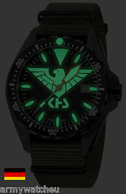 Military Watch German Army Missiontimer 3 C1 Eagle One Light Date Army Strap