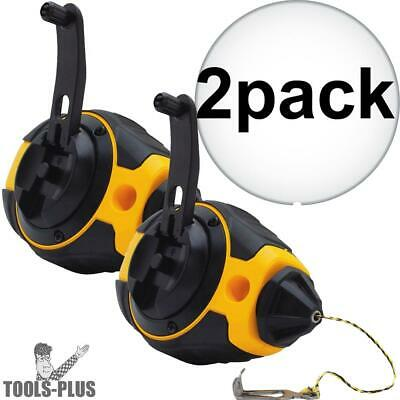 2pk 100' Chalk Reel DeWalt DWHT47372 New