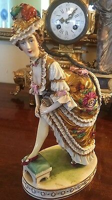 Antique Genuine Fine French 19th Century Severs Porcelain Naughty Lady Figurine