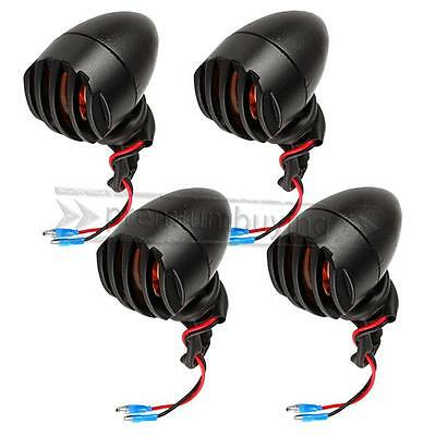 4x LED Motorcycle Indicators Motorbike Turn Signal Lights front rear Bulb bullet