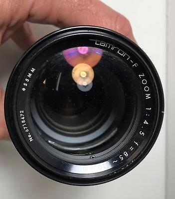 Tamron-F Zoom 85-210mm f4.5 Lens for Olympus OM system