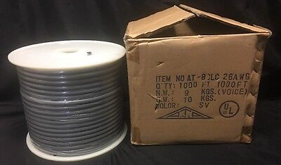 Flat communication cable 8 conductor AT8CLC Allen Tell Products 1000 FT ~ NEW!!!