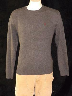 Polo Ralph Lauren Men's Crew Neck Sweater Gray 100% Cashmere Sz M Nwt $325