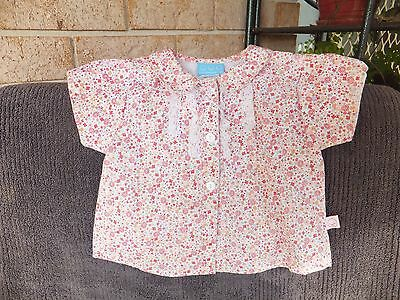 Cotton Girls Floral Baby Blouse - Size 1 - BNWOT - CUTE