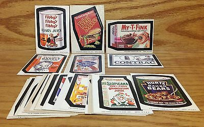 1974 Topps Wacky Packages 7th Series 7 partial SET 30/33 Big Muc Blast Blew Beer