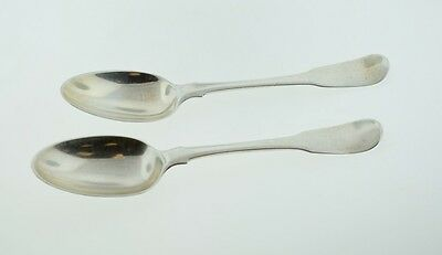Antique George Smith III London Sterling Silver Set of 2 Spoons 1774