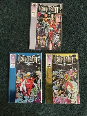 Deathmate Prologue Silver (Sept) & Deathmate (Oct - Blue & Yellow) Lot 3 VF/NM