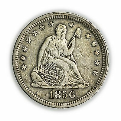 1856 Seated Liberty Quarter, Nice, Small Silver Coin [3127.96]