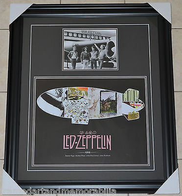Led Zeppelin - Professionally Framed 16x20 Photo With 8x10 Photo