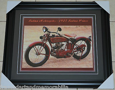 Indian Motorcycles Framed 16x20 Photo