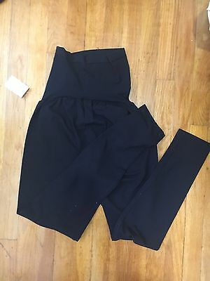 New Oh Baby By Motherhood Secret Fit Belly Black Leggings - Maternity Size M
