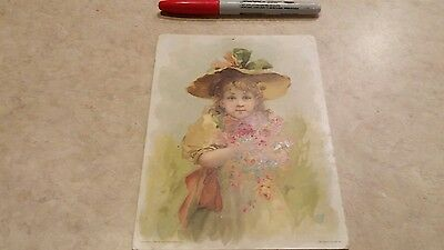 Lion Coffee Woolson Spice Dayton Ohio girl flowers Victorian trade card