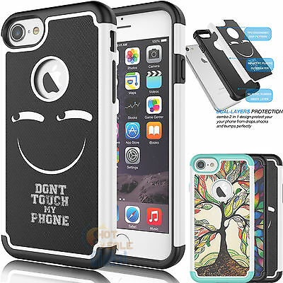Shockproof Hybrid Impact Rubber Defender Hard Case Cover for iPhone 7 4.7""