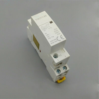 CT1 2P 25A 220V/230V 50/60HZ Din rail Household ac contactor 2NO 2NO 1NONC kh