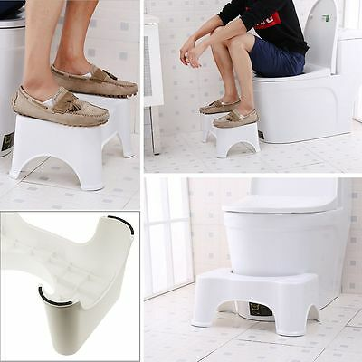 Bathroom Toilet Squatty Step Stool Potty Squat Aid For Constipation Piles Relief