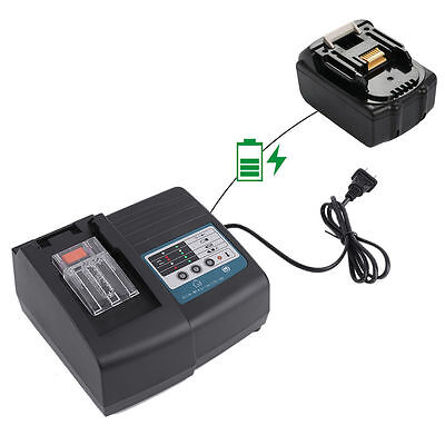 DC18RC Fast Lithium-Ion Battery Charger for Makita BL1830/BL1840/BL1850 Battery