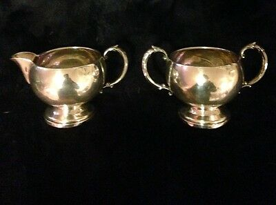 Sterling Silver .925 Antique Creamer and Sugar Bowl