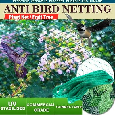 Commercial Fruit Tree Plant Knitted Anti Bird Netting Pest Net Green AU STOCK