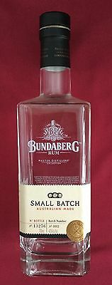 BUNDABERG RUM Small Batch Limited Edition  Empty Bottle 700ML