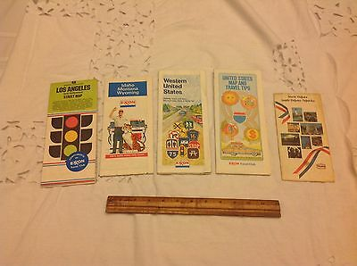Lot Of Maps From Texaco And Exxon Advertising