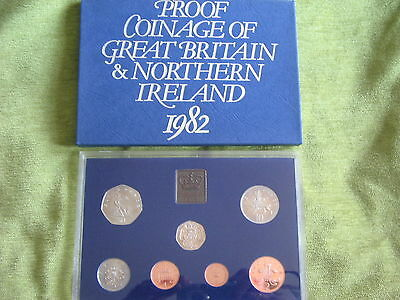 The Coinage Of Great Britain & Northern Ireland 1982 Proof Set 7 Coins Free Post