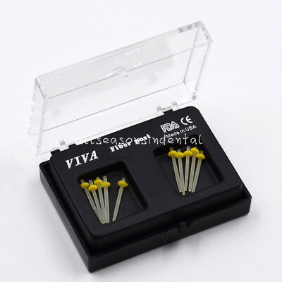 10 Pcs/ 1 Box Dental Refill Drills Glass Fiber Post Straight Piles 1.2mm Yellow