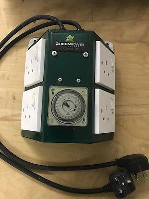 Green Power 4 Way Professional Contactor Relay Timer For Ballast Lights Hydro