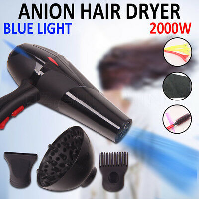3000W Salon Anion Hair Dryer Professional Hairdryer Blower Hair Care Lonic Black