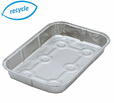 "50 x 7¾"" Tray Bake Foil Dishes, Small Baking Trays, Rectangle Container Cases"