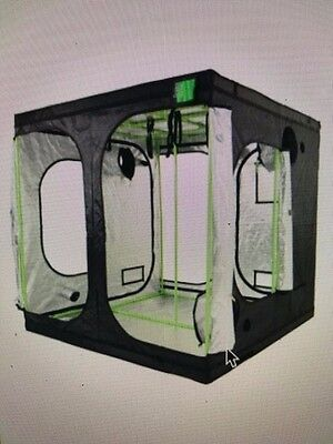 Green-Qube GQ240 - 2.4m x 2.4m x 2.2m - Grow Tent Silver Extra Height version