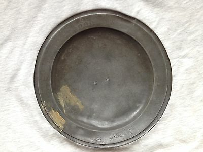 antique pewter plate 1700s