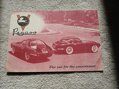 Pegaso Z102: , Rare Multi-Page Brochure, Coachwork Styles Rendered In Color