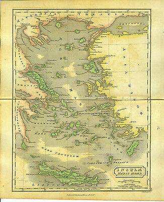 Isles of the Aegean by Dr. Samue Butler 1831 Ancient Greece  Latin text antique