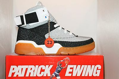 new style 67cd5 892e3 Mens Ewing Athletics Patrick Ewing SPEEDWEAVE White Black Gum Basketball  Shoes